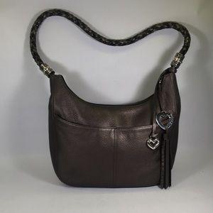 Brighton Barbados Ziptop Hobo Handbag